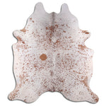 | COBY | - BROWN + WHITE SPECKLE COWHIDE RUG