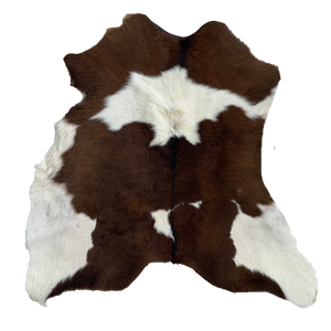 CALF HIDE | CHOC BROWN + WHITE - Lux & Hide