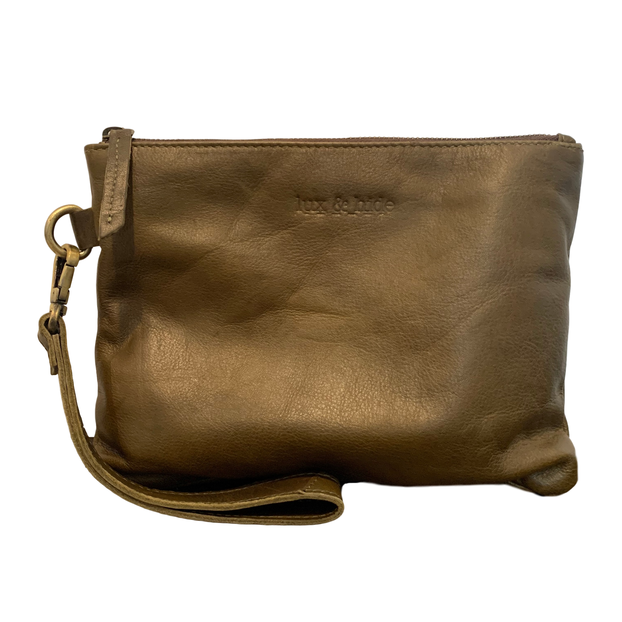 LEATHER CLUTCH - OLIVE GREEN - Lux & Hide