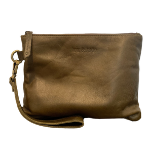 LEATHER CLUTCH - OLIVE GREEN