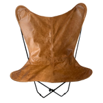 TAN LEATHER BUTTERFLY CHAIR - Lux & Hide