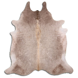 | HALSEY | - LIGHT CHAMPAGNE COWHIDE RUG - Lux & Hide