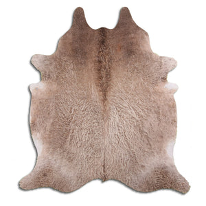 | MOLLY | - LIGHT CHAMPAGNE CURLY COWHIDE RUG - Lux & Hide