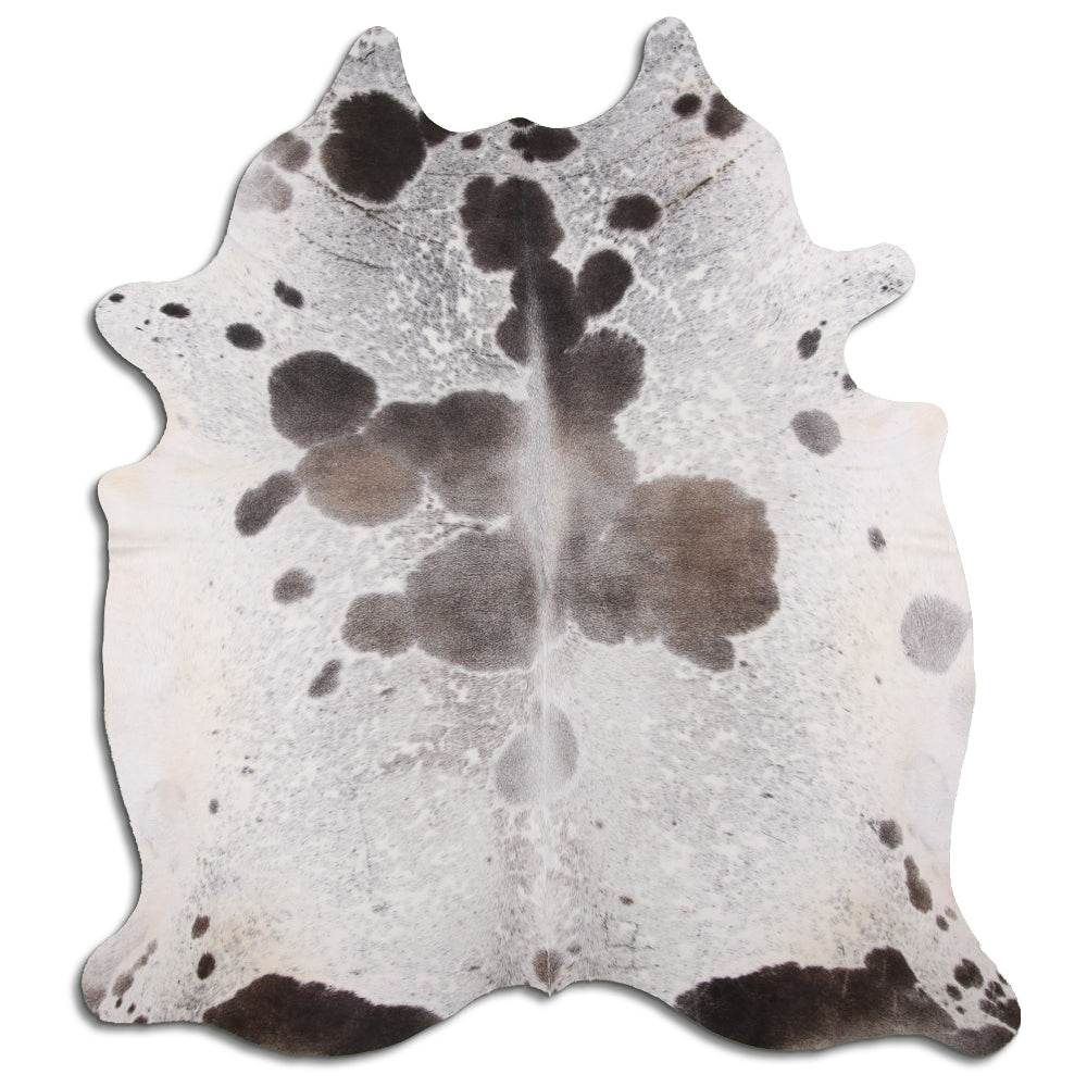 | ACE | - GREY + WHITE COWHIDE RUG