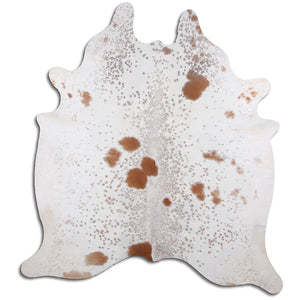 | HARPER | - BROWN + WHITE SPECKLE COWHIDE RUG - Lux & Hide
