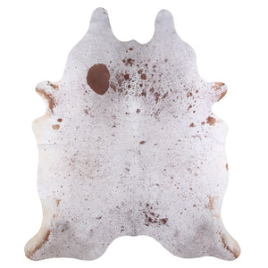 | TATE | - BROWN + WHITE SPECKLE COWHIDE RUG