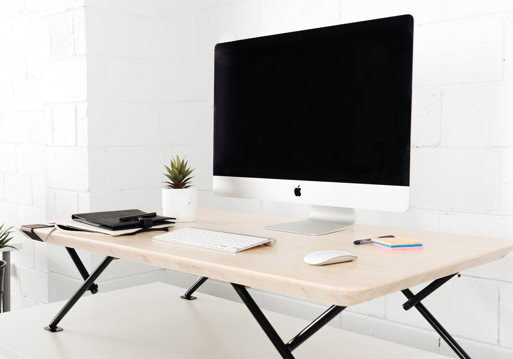 Black | imac on standing desk