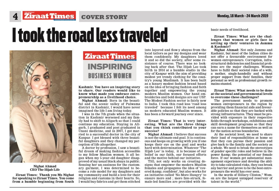 I took the road less traveled: Interview by Ziraat Times