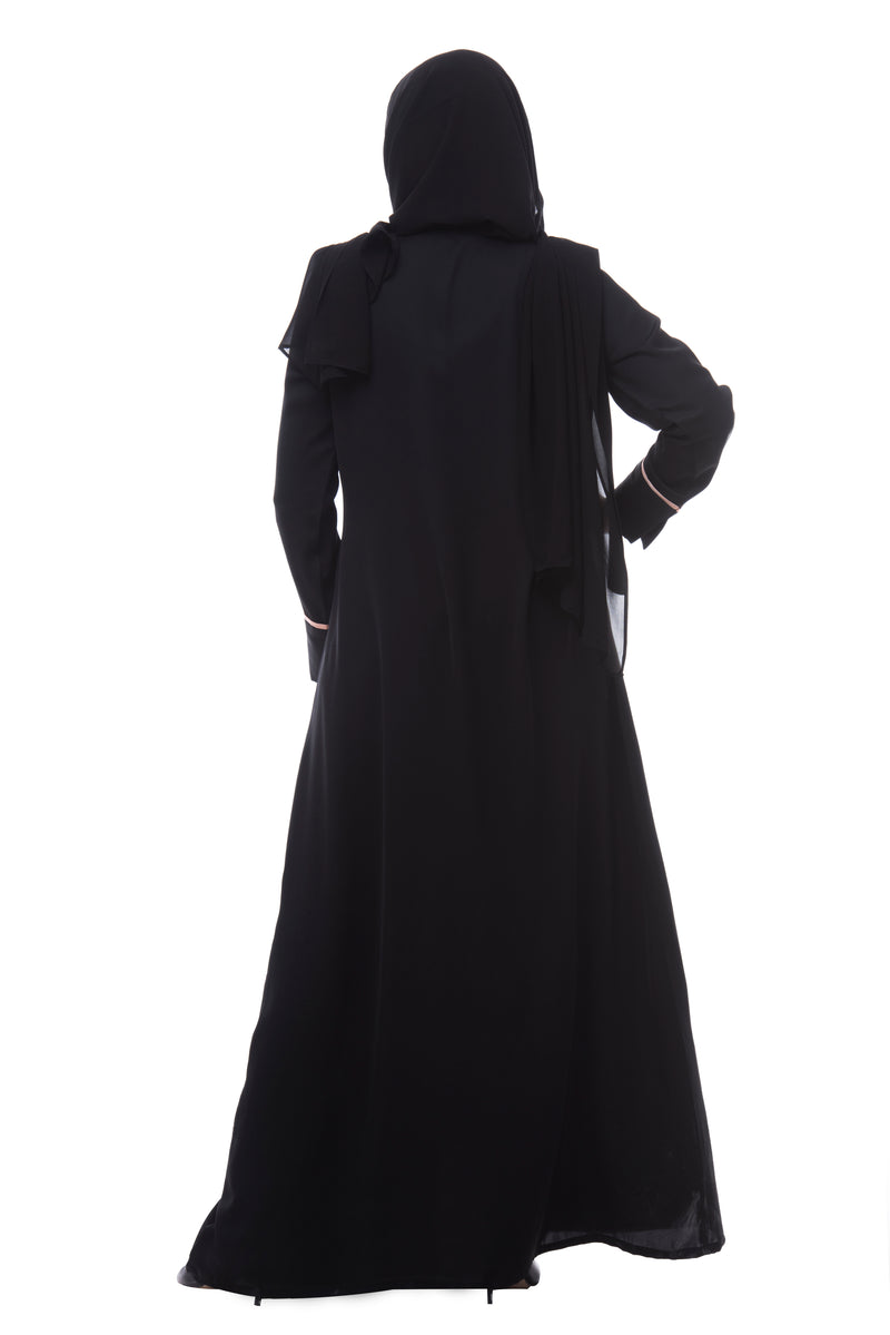The Peach Bow Abaya