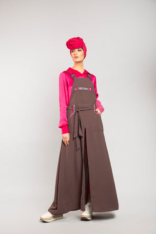 Drape Dress Burgundy