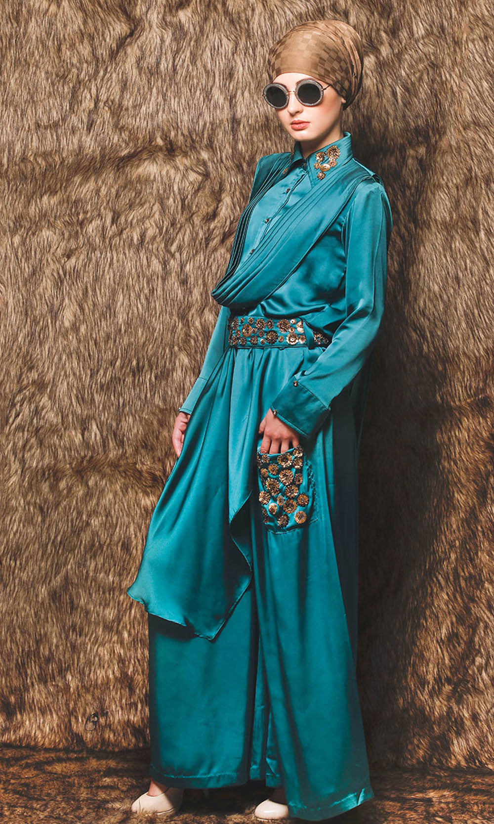 Sea Green Modest Jumpsuit
