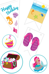 Beach Themed Birthday Party Printables