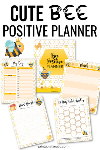 Cute Bee Positive Planner