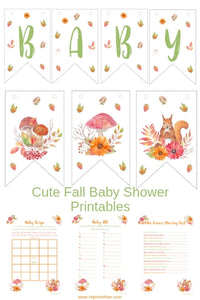cute fall baby shower printable games