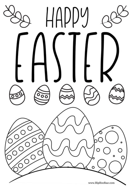 Happy Easter Coloring Sheets