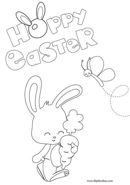 Happy Easter Kids Coloring Sheets
