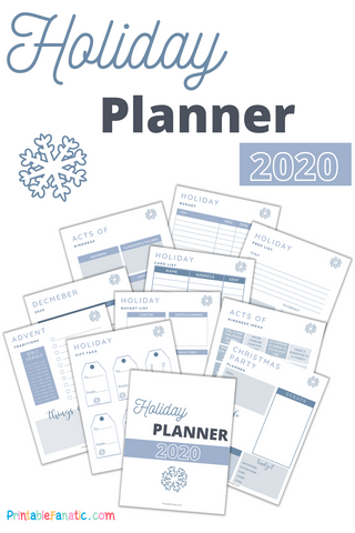 Holiday Planner by printable fanatic