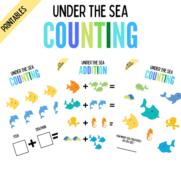 Under the sea counting printables