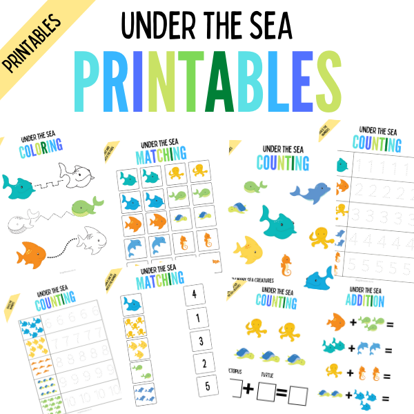 Under the sea learning printables