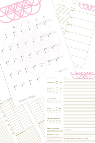 Yearly Planner - Pretty In Pink