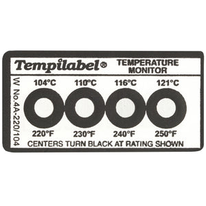 Series 4 Tempilabel - 161°F (72°) + - Pack of 10