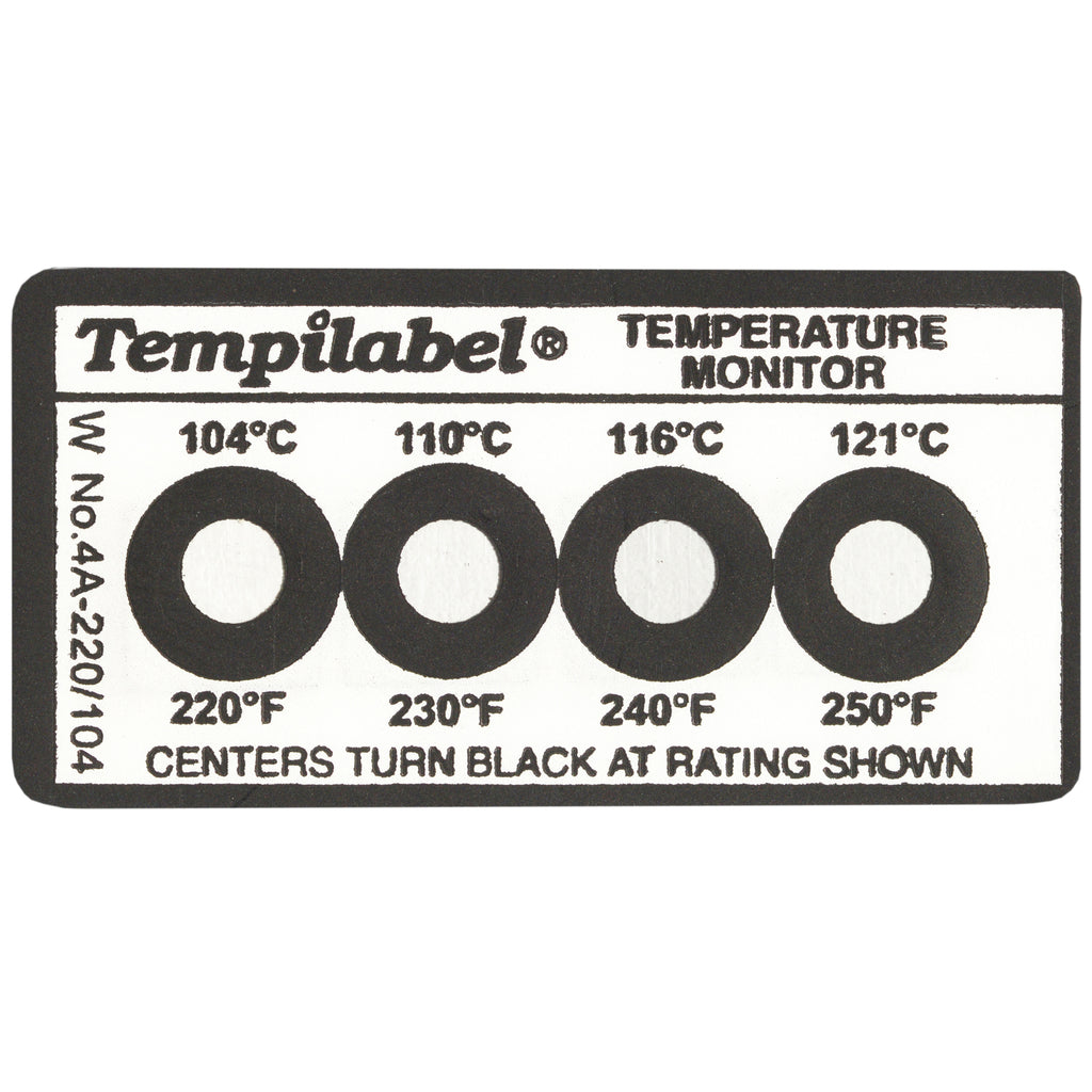 Series 4 Tempilabel - 0°F (-0°C) - 160°F (71°) - Pack of 10