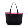Summer Tote - Black Denim Pop Pink