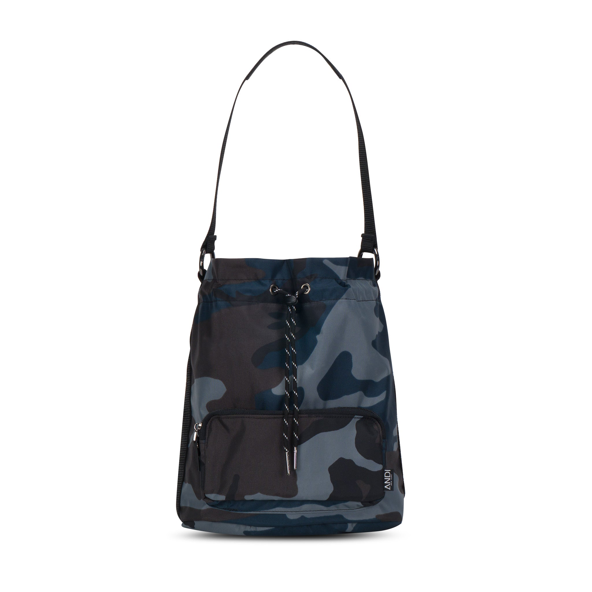 Bucket Crossbody - Ink Camo