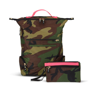 The ANDI Backpack - Camo Pop Pink