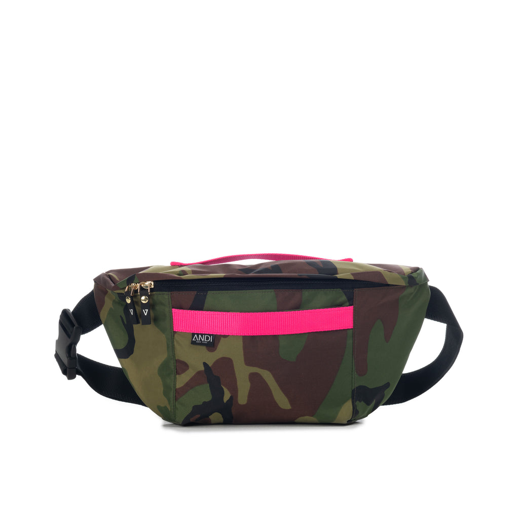 XL Bum Bag - Camo Pop Pink