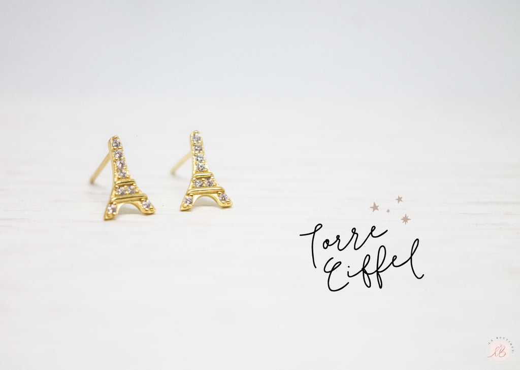 Aretes  Mini Torre Eiffel LaBoutique Joyas