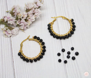 Argollas Mediana Murano Negro LaBoutique Joyas