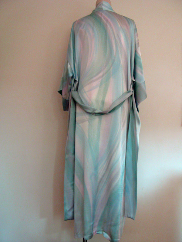 Hand Painted Silk Robe