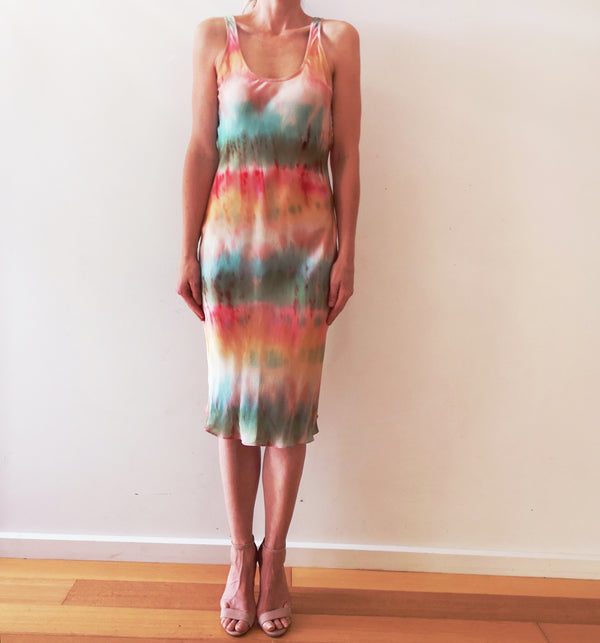 Tie-Dye Silk Singlet Dress