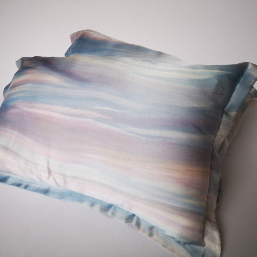 Hand-painted silk pillowcase set