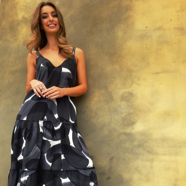 Hand-painted Maxi Dress RRP $329 (Pre-order deposit $164.50)