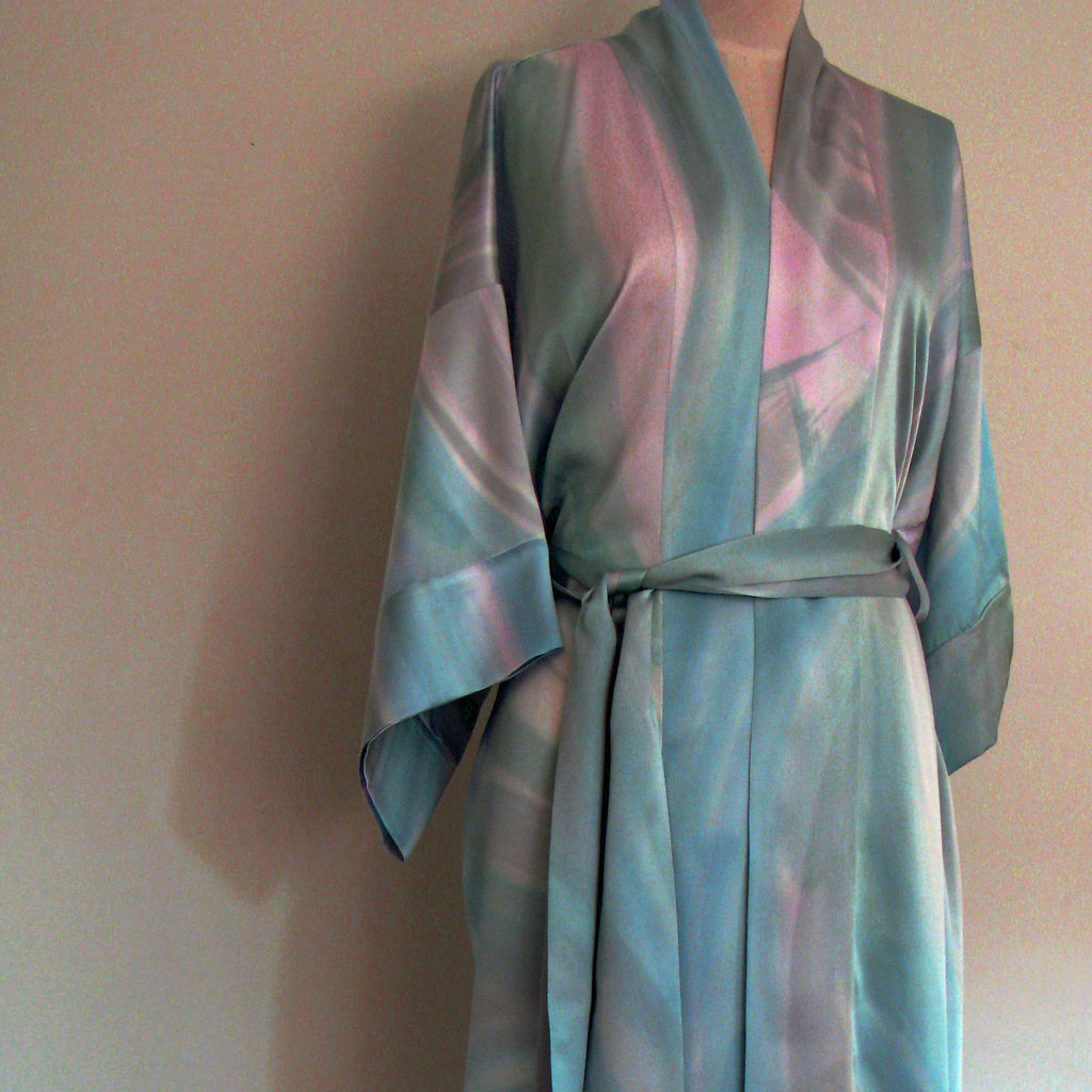 Hand-painted silk robe