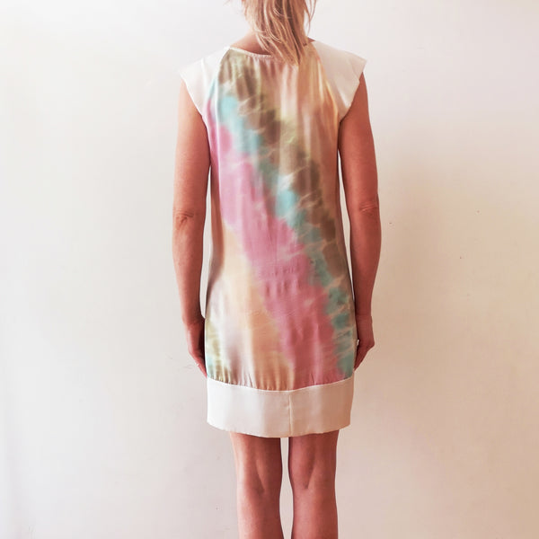 Hand-painted silk tunic dress