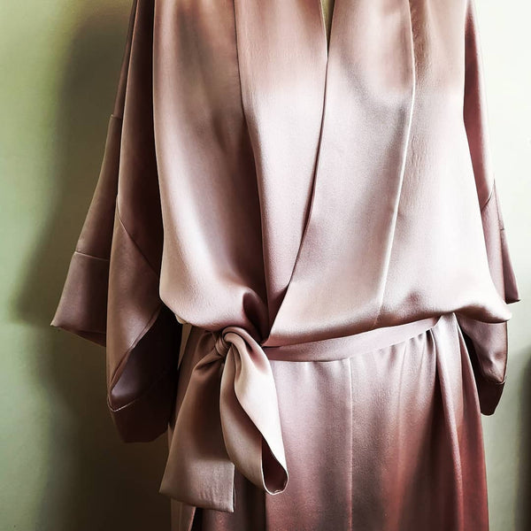 Silk Robe Mid-Thigh