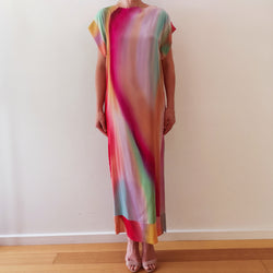 Hand-painted Silk Caftan