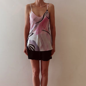 Hand-painted silk camisole