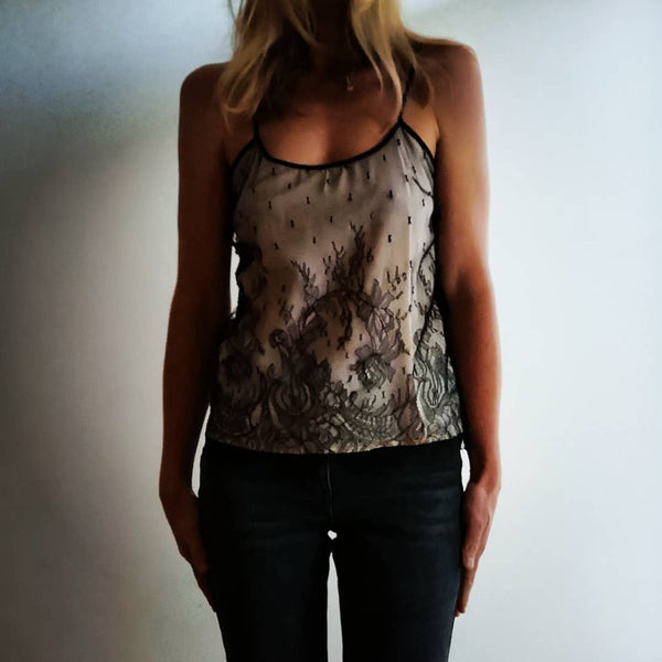 French Chantilly lace camisole