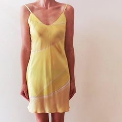 Hand-painted Silk Slip Dress