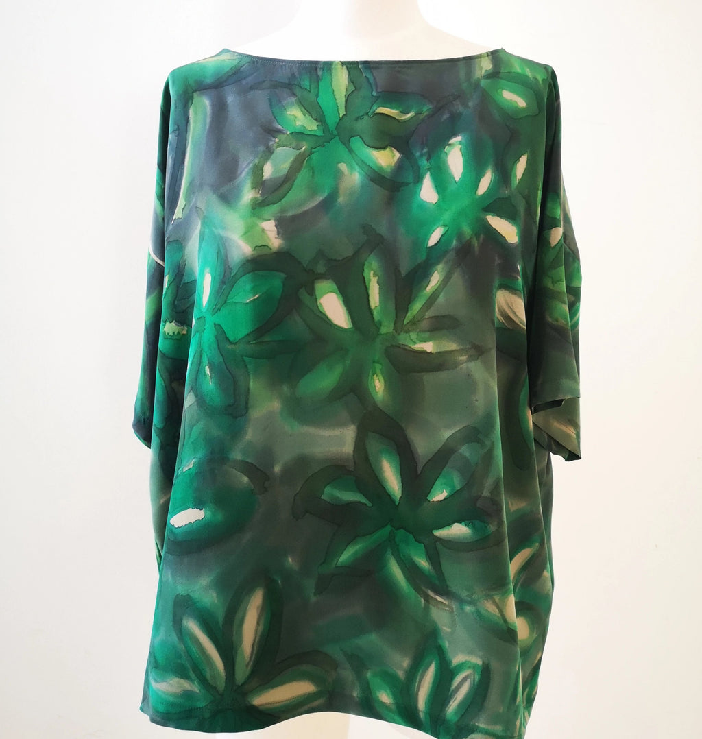 Silk crepe de chine T-shirt