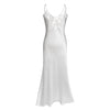 Ivory backless silk slip bride dress