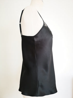 WS Limited Edition Black Silk Camisole & Knicker Set RRP $260