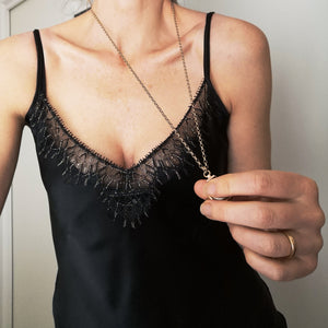 Limited edition black silk camisole