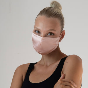 Triple Layer Adjustable 100% Silk Face Mask w/ Filter Pocket & Nose Wire - London Store