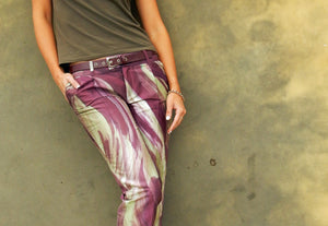 Tailored silk pants
