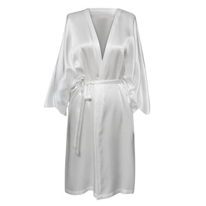 Magyar Sleeve Silk Robe (available in ivory & black)